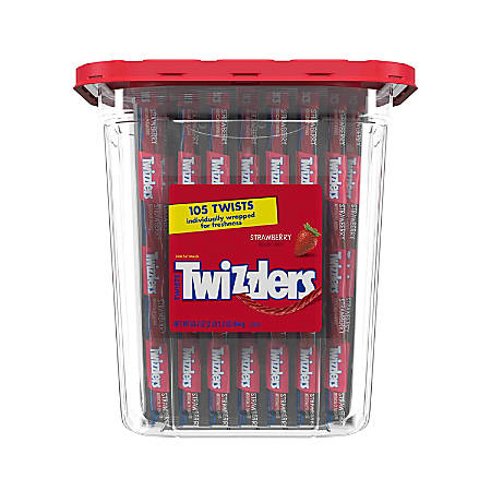 Twizzlers® Strawberry Licorice, 36.7 Oz Canister, 105 Pieces