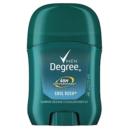 Degree Men Dry Protection Antiperspirant, Cool Rush, 0.5 Oz, Carton Of 36 Sticks