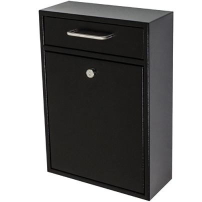 Mail Boss Locking Security Drop Box 16 14 H X 11 W 4 34 D Black By Office Depot Officemax