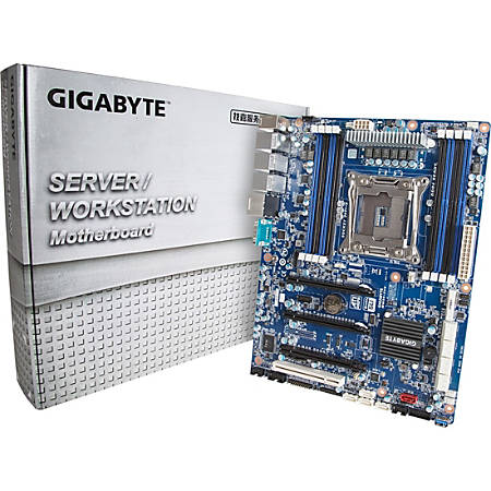 Gigabyte MW50-SV0 Workstation Motherboard - Intel Chipset - Socket LGA 2011-v3 - 64 GB DDR4 SDRAM Maximum RAM - 8 x Memory Slots - Gigabit Ethernet - 4 x USB 3.0 Port - 3 x RJ-45 - 15 x SATA Interfaces