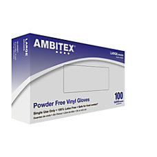 Ambitex Vinyl Powder Free Gloves Large