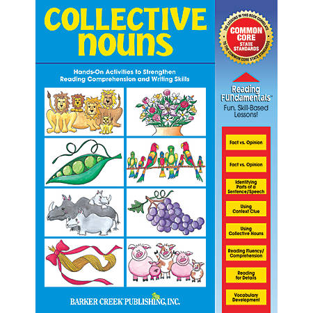 Barker Creek Grammar Activity Book, Collective Nouns, Grades 1 To College
