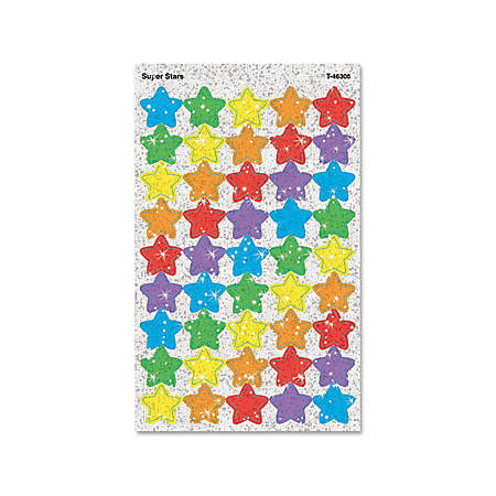 Trend® Sparkle Stickers, Large Super Stars, Pack Of 160
