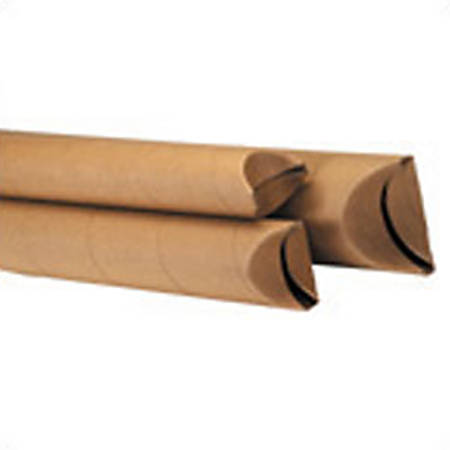 "Office Depot® Brand Kraft Crimped-End Mailing Tubes, 3"" x 15"", Pack Of 24"
