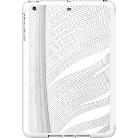 OTM iPad Air White Glossy Case Feather Collection, Silver - For Apple iPad Air Tablet - Feather - White, Silver - Glossy