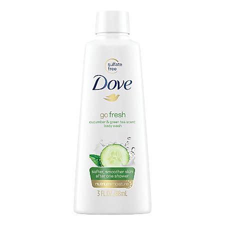 Dove Body Wash, Cucumber Scent, 3 Oz