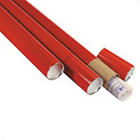 """Office Depot® Brand 3-Piece Telescopic Mailing Tubes, 3"""" x 30"""", 80% Recycled, Red, Pack Of 24"""