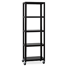 Lorell Steel Mobile Series Bookcase 4