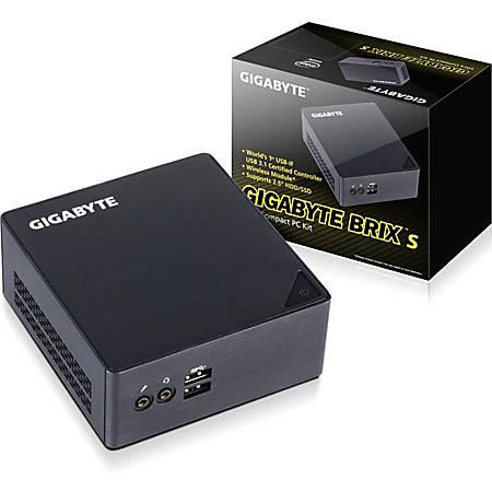 Gigabyte BRIX GB-BSI7HT-6500 Desktop Computer - Core i7 i7-6500U - Mini PC - Intel HD Graphics 520 - Wireless LAN - Bluetooth