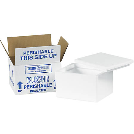 """Office Depot® Brand Insulated Corrugated Cartons, 6"""" x 4 1/2"""" x 3"""", Pack Of 24"""