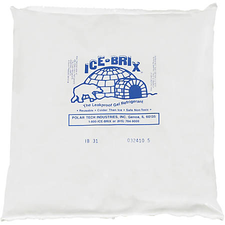 "Ice-Brix™ Cold Packs, 32 oz, 8"" x 8"" x 1 1/2"", Box Of 9"