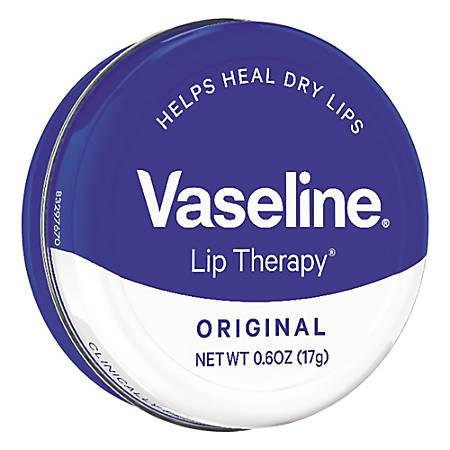 Vaseline Lip Therapy Original, 0.6 Oz, Case Of 12 Tins
