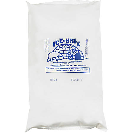 "Ice-Brix™ Cold Packs, 32 oz, 10"" x 6"" x 1 1/2"", Box Of 9"