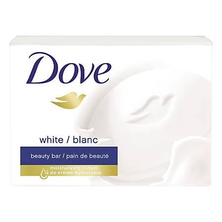 Dove White Beauty Bars, Light Scent, Pack Of 36 Bars