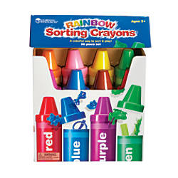 Learning Resources Rainbow Sorting Crayons 9