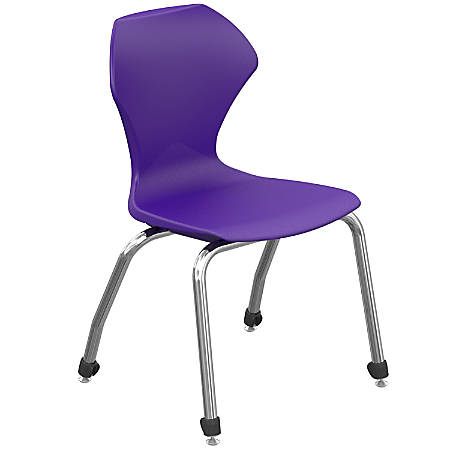 """Marco Group™ Apex™ Apex Series Stacking Chairs, 30-1/2""""H, Purple/Chrome, Set Of 4 Chairs"""
