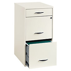 Lorell 18 D 3 Drawer Steel
