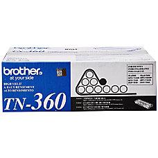 Brother TN 360 Black Toner Cartridge