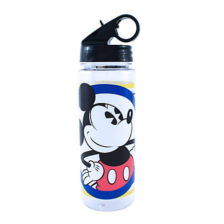 Disney Mickey Mouse Stripes Water Bottle, 20 Oz
