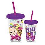 Plastic Cold Cup With Shaped Ice Cubes, 16 Oz, JoJo Siwa Emoji Haters