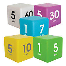 Datexx Time Cube Preset Timers BlueGreenYellowPurpleWhite