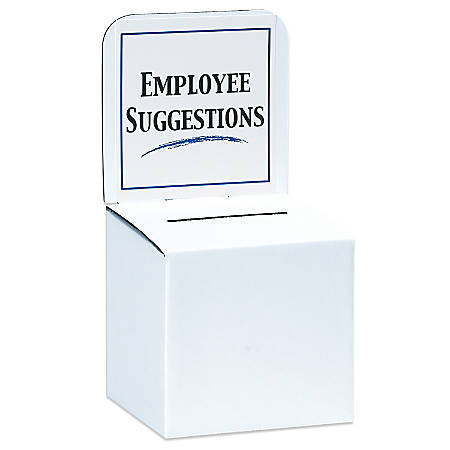 """Ballot Boxes, 10"""" x 10"""" x 9/10"""", White, Pack Of 10"""