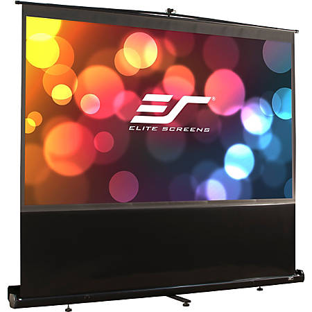 "Elite ez-Cinema F150NWV - Projection screen with floor stand - 150"" (150 in) - 4:3 - MaxWhite - black"