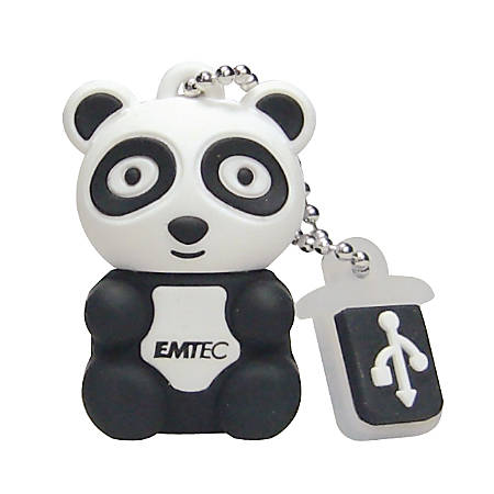 EMTEC Candy Jar USB 2.0 Flash Drive, 4GB, Multicolor, ECMMD4GGUMJAR25