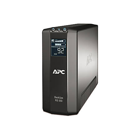 APC Back-UPS RS 550VA Tower UPS - 550VA/330W - 3 Minute - 3 x IEC 60320 C13, 3 x IEC 60320 C13