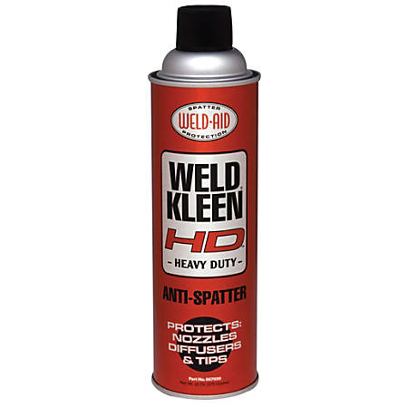 Weld-Aid Weld-Kleen® Heavy-Duty Anti-Spatter Aerosol Can, 20 Oz, Clear