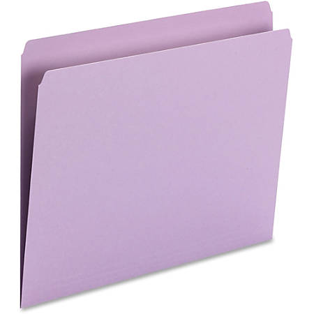 """Smead® Top-Tab Colored Folders, 3/4"""" Expansion, Letter Size, Lavender, Box Of 100 Folders"""