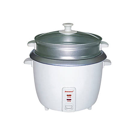 Brentwood TS-700S 4 Cup Rice Cooker and Steamer - White