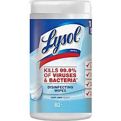 Lysol Disinfecting Wipes Wipe Crisp Linen