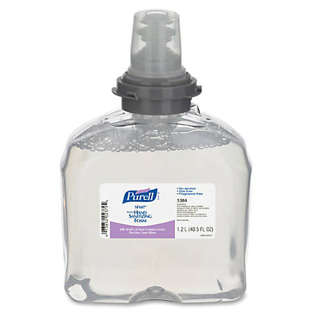 PURELL® TFX Dispenser Refill Hand Sanitizing Foam - 40.6 fl oz (1200 mL) - Kill Germs - Hand - Clear - Dye-free, Fragrance-free, Anti-irritant, Alcohol-free - 2 / Carton
