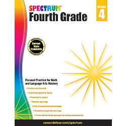 Spectrum Workbook Grade 4