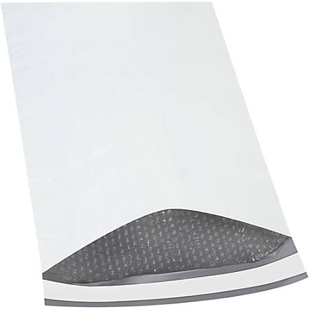 """Office Depot® Brand Bubble-Lined Poly Mailers, 14 1/4"""" x 20"""", White, Box Of 50"""