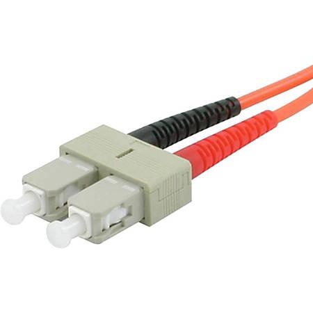 C2G-4m SC-ST 62.5/125 OM1 Duplex Multimode Fiber Optic Cable (Plenum-Rated) - Orange