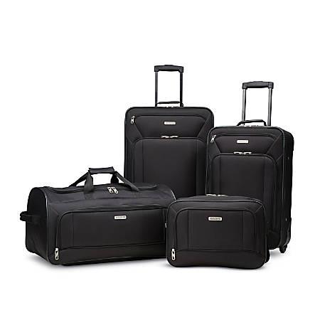 American Tourister® Fieldbrook XLT 4-Piece Luggage Set, Black