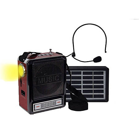 Technical Pro WASPSOLAR100 Wireless Amplifier Speaker, Solar, Red