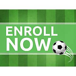 Customizable Yard Sign Soccer Green 18