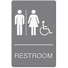 HeadLine RestroomWheelchair Image Indoor Sign 1