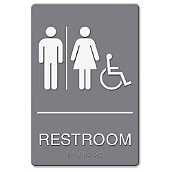 HeadLine RestroomWheelchair Image Indoor Sign 1