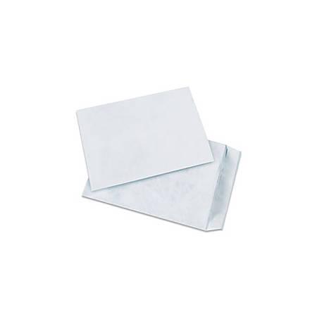 """Tyvek® Envelopes, 12"""" x 15 1/2"""", End Opening, Plain White, Pack Of 100"""