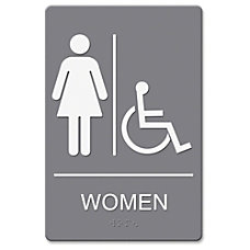 HeadLine WomenWheelchair Image Indoor Sign 1
