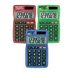 Victor Dual Power Pocket Calculators Pack
