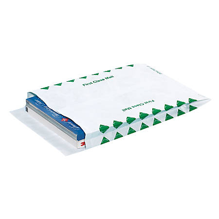"Tyvek® Envelopes, Expandable, 12"" x 16"" x 2"", End Opening, White, Pack Of 100"