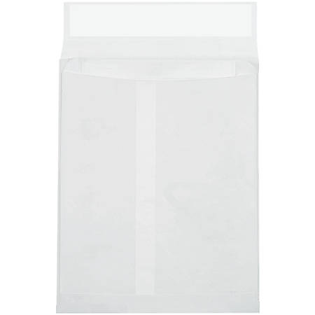 """Tyvek® Envelopes, Expandable, 10"""" x 15"""" x 2"""", End Opening, First-Class White, Pack Of 100"""