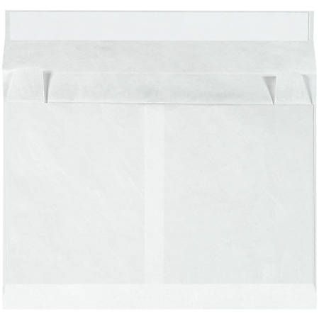 "Tyvek® Envelopes, Expandable, 12"" x 16"" x 4"", Side Opening, White, Case Of 50"