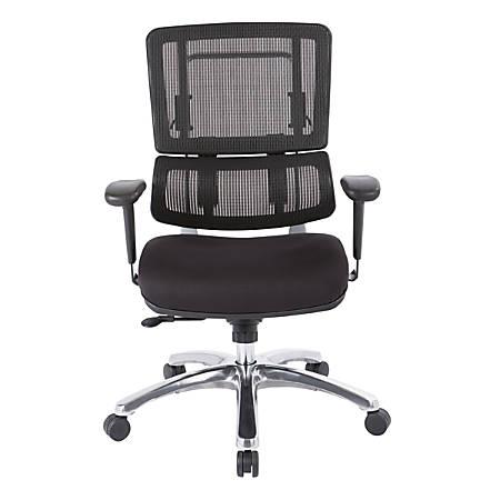 Pro-Line II™ Pro X996 Vertical Mesh High-Back Chair, Black/Coal Black FreeFlex®/Polished Aluminum