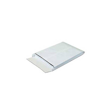 """SHIP-LITE® Envelopes, Expandable, 12"""" x 16"""" x 2"""", End Opening, White, Pack Of 100"""